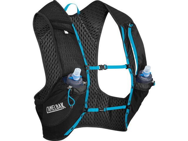 CamelBak Nano 17 Hydration Pack Vest with Quick Stow Flask, black/atomic blue